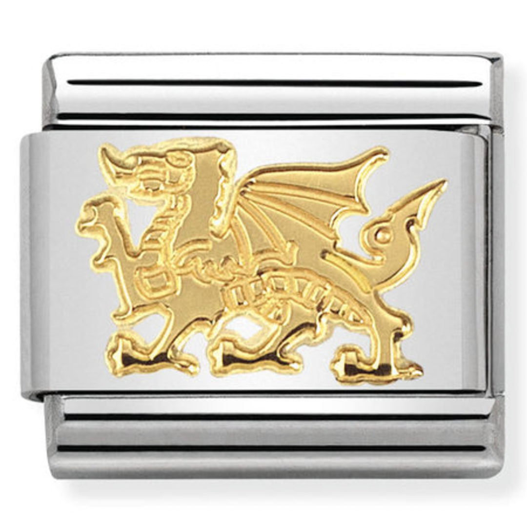 Nomination Gold Welsh Dragon Christopher George Jewellers
