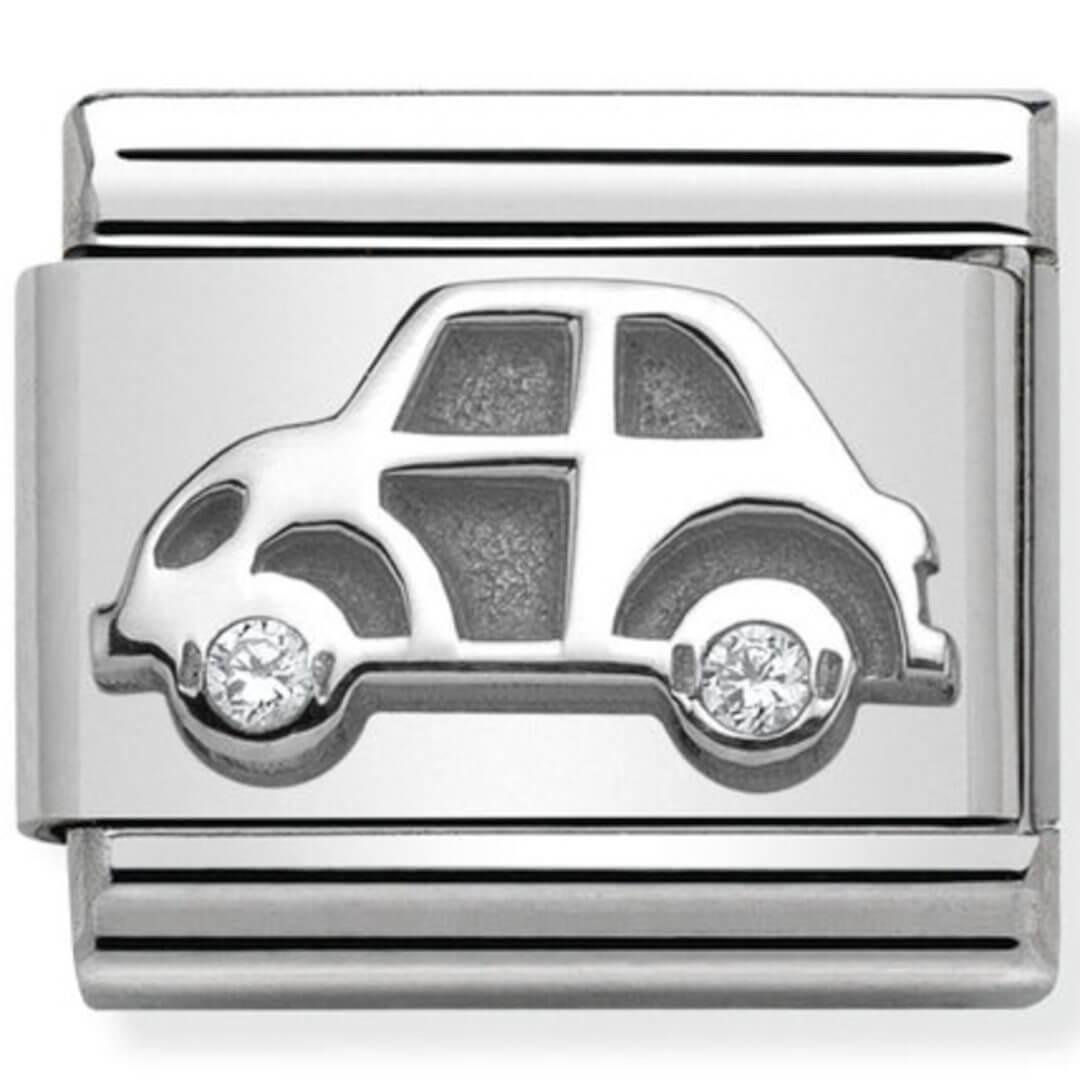 Nomination Silver Car with CZ  e23ea10cead8