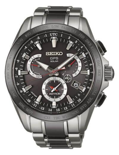 Seiko Astron Watch GPS Solar Dual Time Titanium