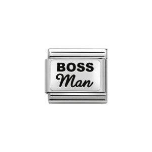 Nomination Silver Boss Man Charm