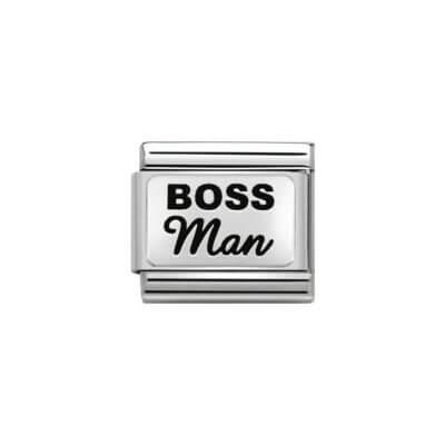 Nomination Silver Boss Man Charm