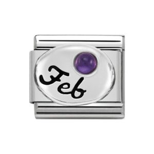 Nomination February Amethyst Charm