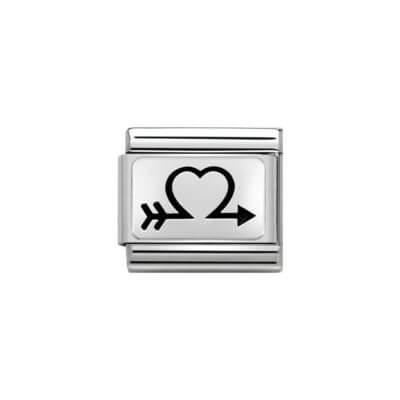 Silver Arrow Heart Nomination Charm