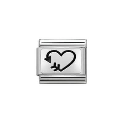 Nomination Arrow Heart Charm