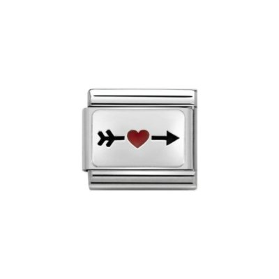 Red Heart with Arrow Nomination Charm