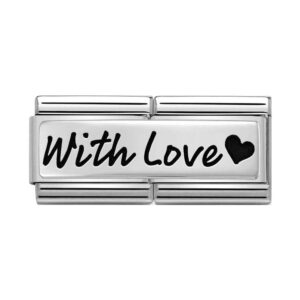 Nomination charm with 'With love' script