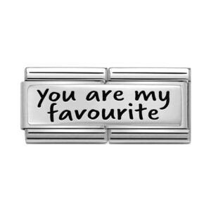 Silver Nomination charm with 'You are my favourite' enscribed